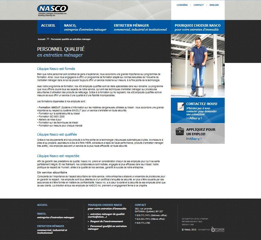 Nasco Inc. entretien d'immeuble à Gatineau