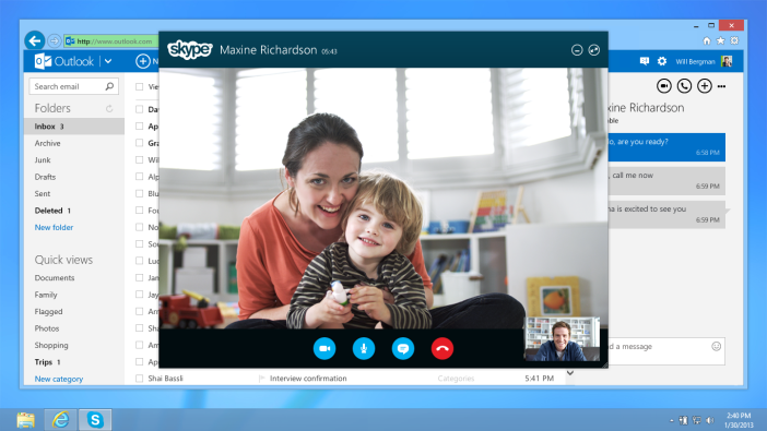 Skype dans outlook