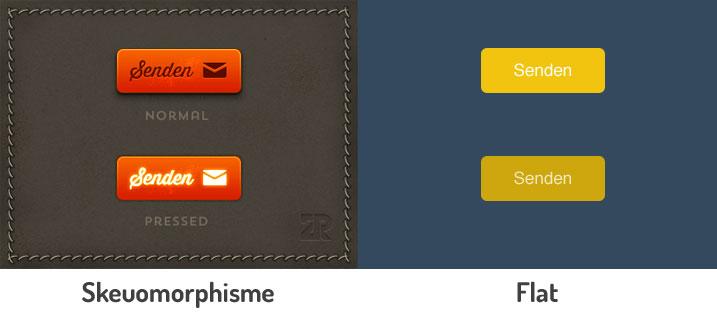 skeuomorphisme vs flat design