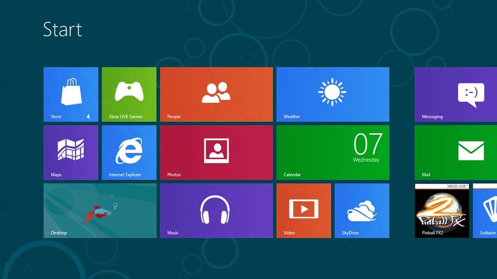 Flat design windows8 Metro UI