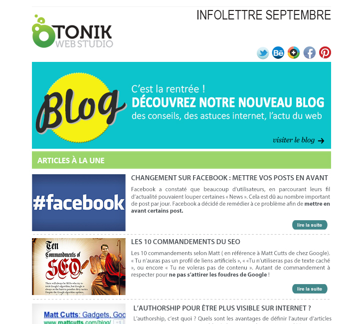 infolettre web marketing