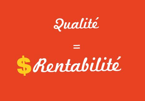 site internet de qualité égale rentabilité