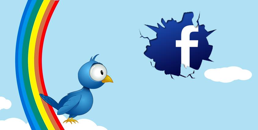 Lier Facebook à Twitter
