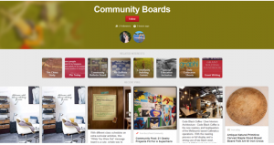 example de  pinterest community board